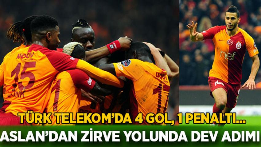 Türk Telekom'da gol yağmuru Galatasaray'dan zirve yolunda dev adım