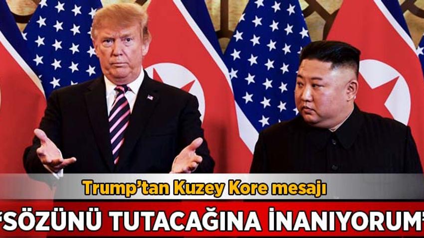 Trump'tan flaş açıklama: Kim Jong-un'un sözünü tutacağına inanıyorum