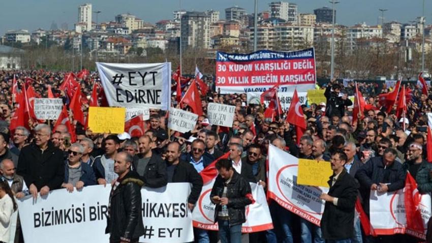 EYT'liler bu kez Yenikapı'dan seslendi: İmtiyaz değil hakkımızı istiyoruz