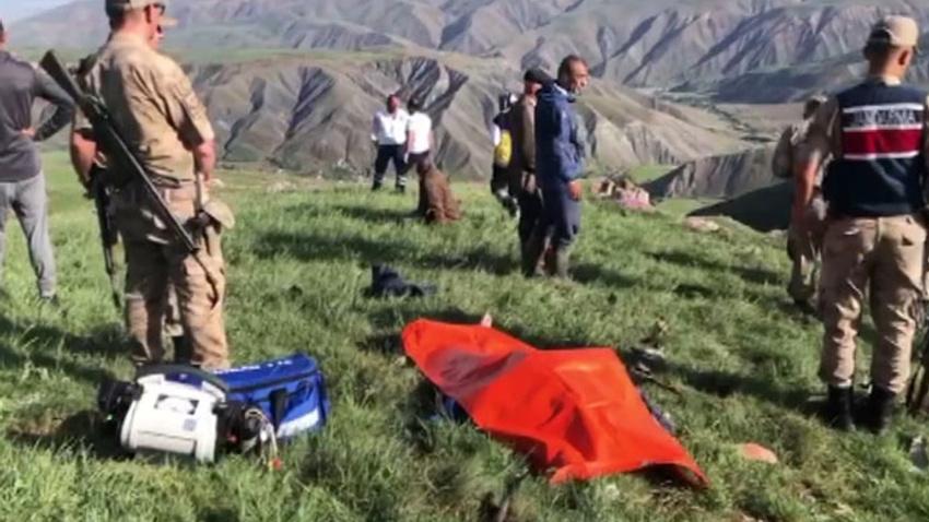 Erzincan'da koyunları otlatan çobana yıldırım çarptı