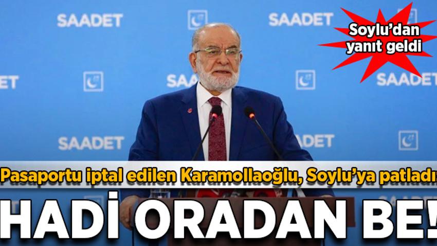Karamollaoğlu, Soylu'ya patladı: Hadi oradan be!