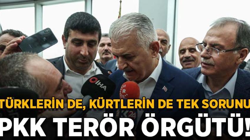 Yıldırım: Türklerin de Kürtlerin de tek sorunu PKK terör örgütü