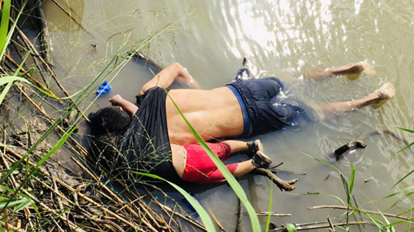 ABD-Meksika sınırında mülteci dramı: Baba ve 2 yaşındaki kızı boğuldu