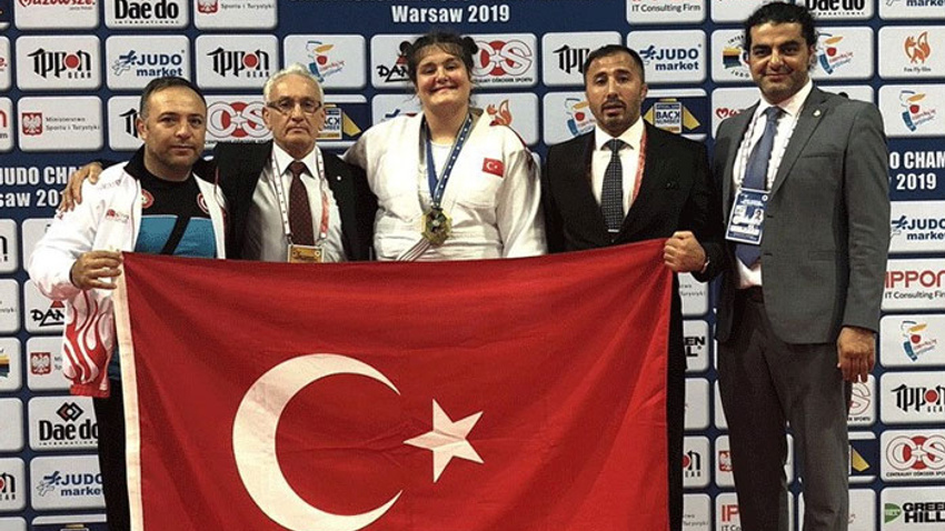Genç judocu Avrupa üçüncüsü oldu
