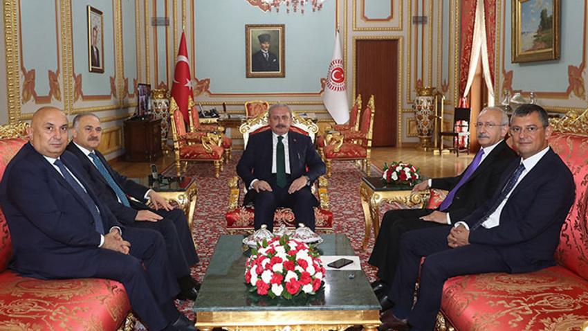 Kılıçdaroğlu, Meclis Başkanı Şentop'u ziyaret etti