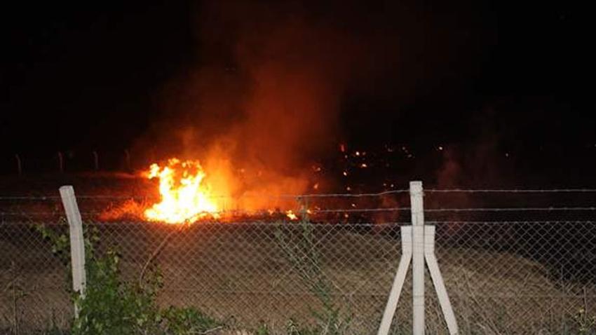 Malatya'da buğday tarlasında yangın