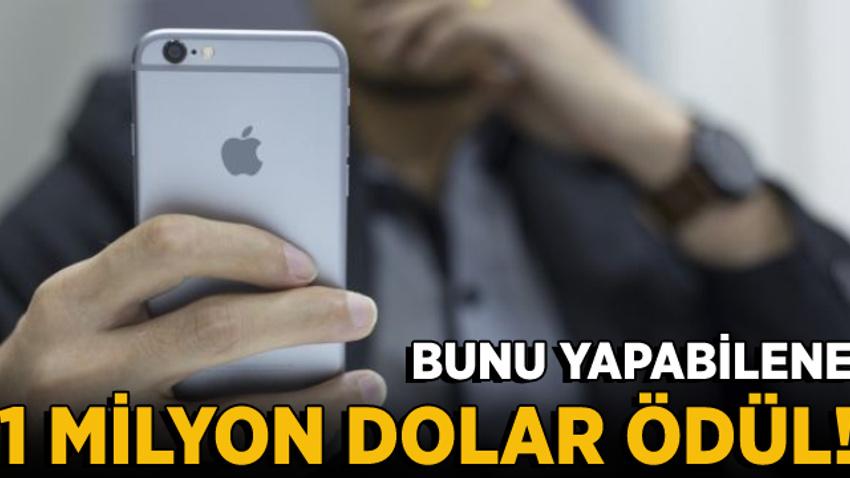 Apple iPhone'u hackleyebilene 1 milyon dolar ödül verecek