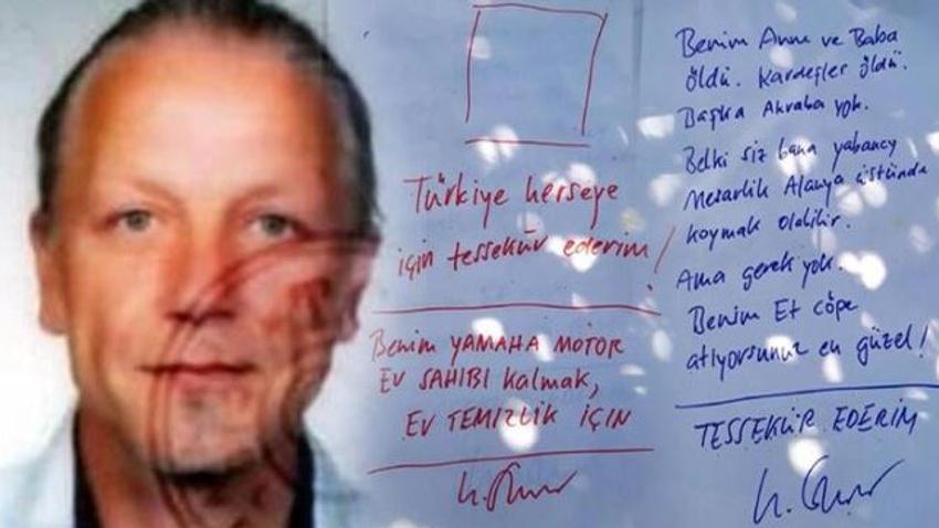 Banyoda ölü bulunan Alman'ın evinden not çıktı