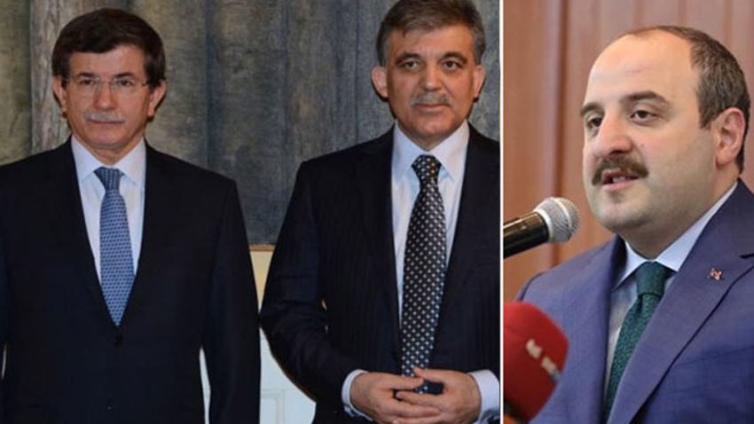 Bakan Varank'tan Gül ve Davutoğlu'na kayyum tepkisi