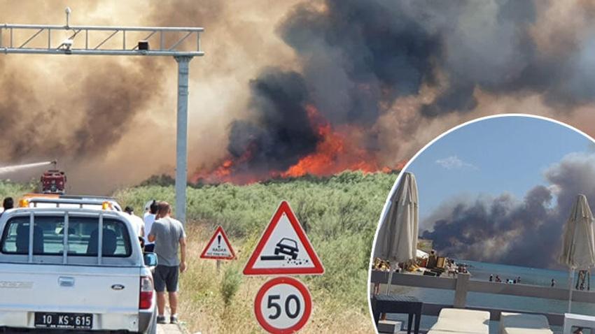Balıkesir'in Edremit ilçesi alev alev yanıyor