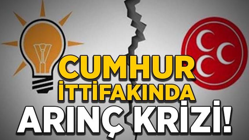 Cumhur İttifakı'nda Arınç krizi!