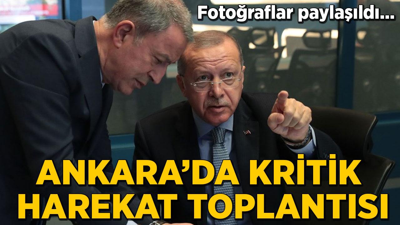 Fotoğraflar paylaşıldı... Ankara'da kritik harekat toplantısı
