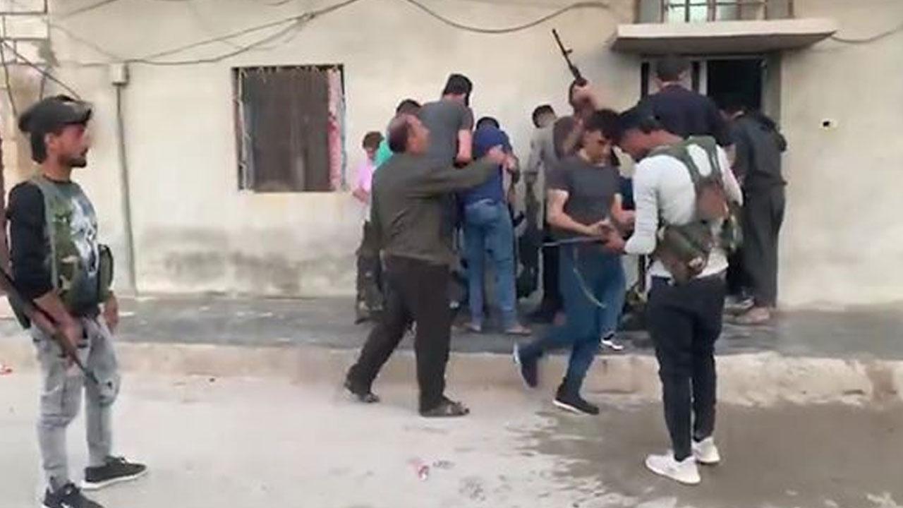 Suriye'de PYD'li teröristlerin sivil kıyafet oyunu kamerada