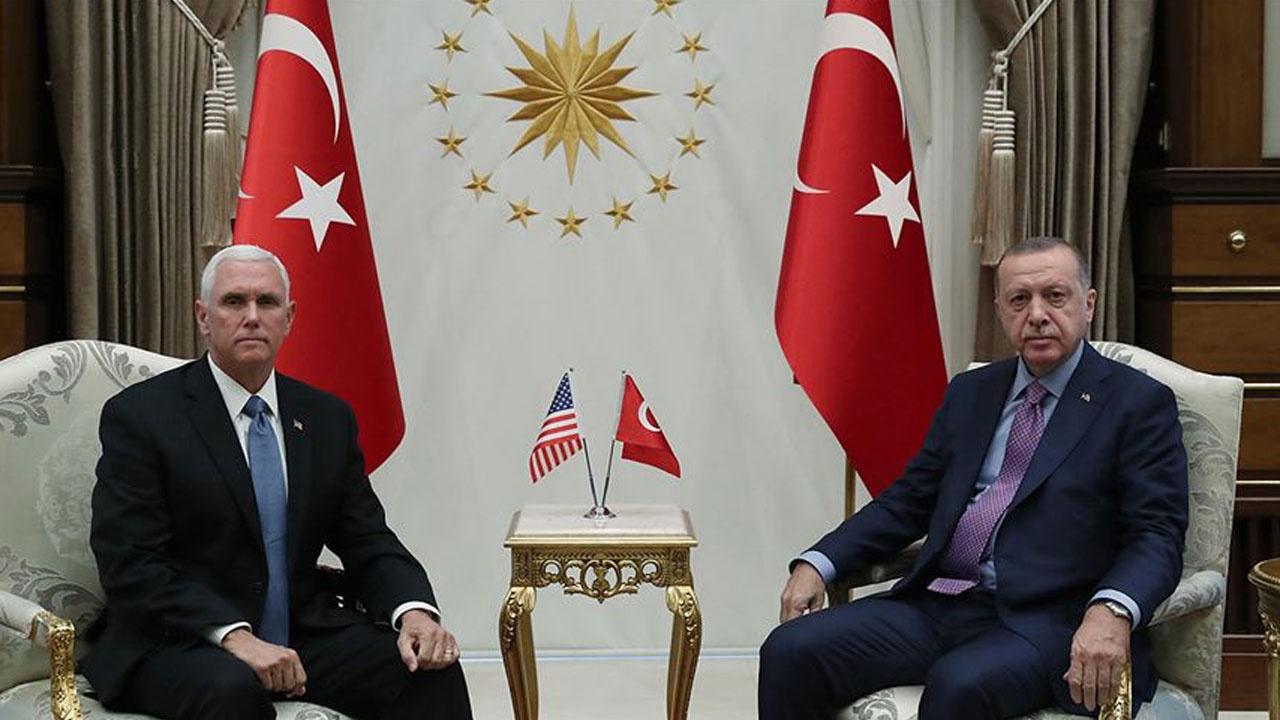 Cumhurbaşkanı Erdoğan ABD Başkan Yardımcısı Pence görüşmesi sona erdi