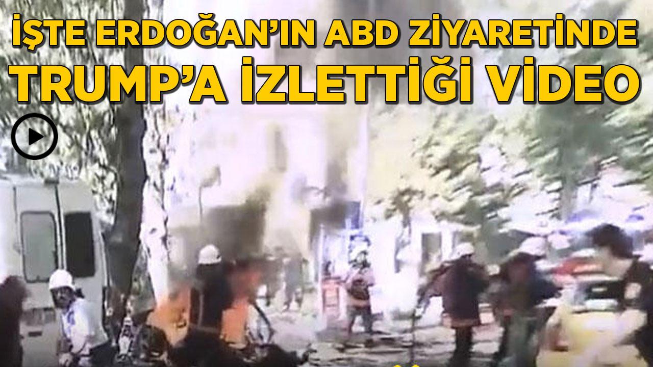 İşte Cumhurbaşkanı Erdoğan'ın Trump'a izlettiği video