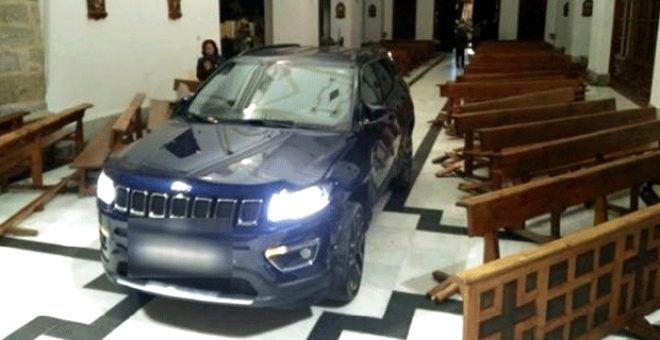 'Şeytan'dan kaçtım' diyen sürücü arabasıyla kiliseye daldı - Sayfa 1
