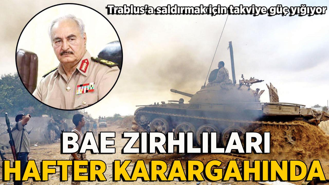 BAE'ye ait askeri araçlar Hafter'in karargahında!