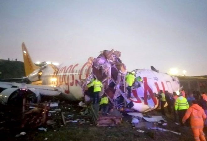 Pistten çıkıp 3 parçaya bölünen uçak kazasından arda kalanlar - Sayfa 4