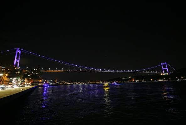 """Fatih Sultan Mehmet Köprüsü """"Dünya Epilepsi Günü""""nde mora büründü - Sayfa 2"""
