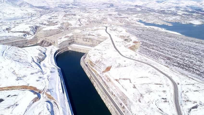 Ilısu Barajı'nda kar güzelliği - Sayfa 2