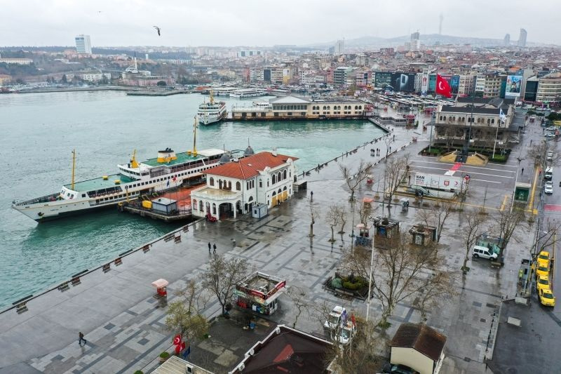 Koronavirüsün ardından İstanbul'un meydanları havadan görüntülendi - Sayfa 1