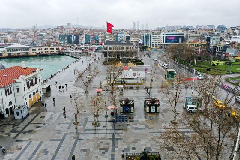 Koronavirüsün ardından İstanbul'un meydanları havadan görüntülendi - Sayfa 3