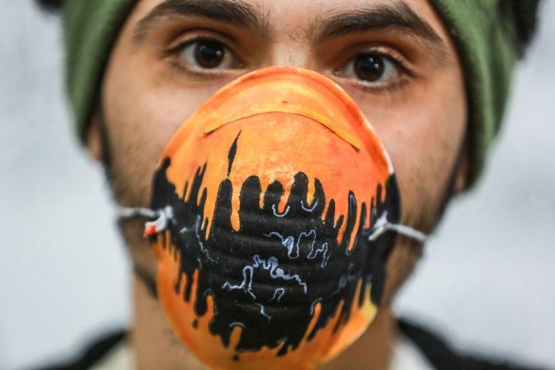 Gazzeli sanatçılar, koronavirüsle mücadele için maskeleri renklendiriyor - Sayfa 3
