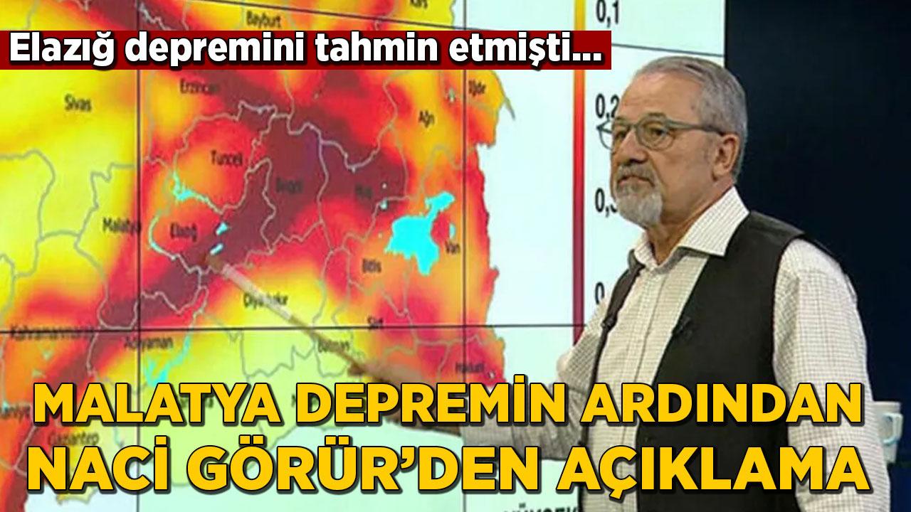 Malatya Pütürge'deki depremin ardından Prof. Dr. Naci Görür'den açıklama