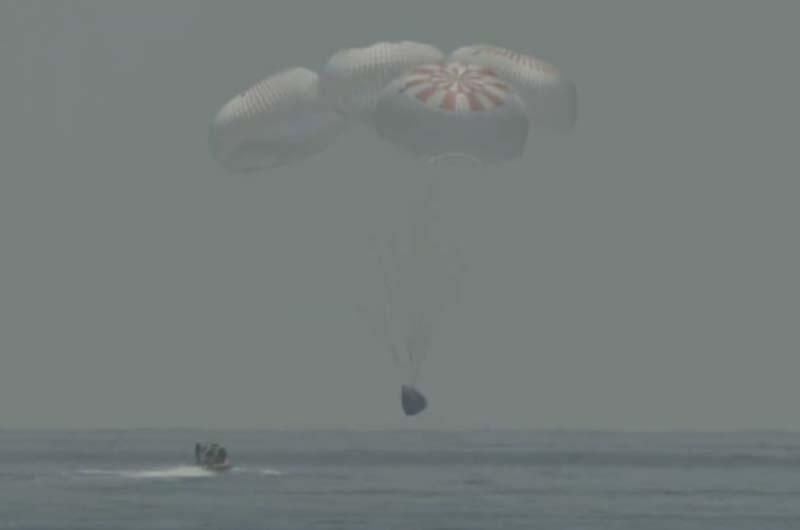 NASA astronotlarını taşıyan SpaceX kapsülü Dünya'ya döndü - Sayfa 3