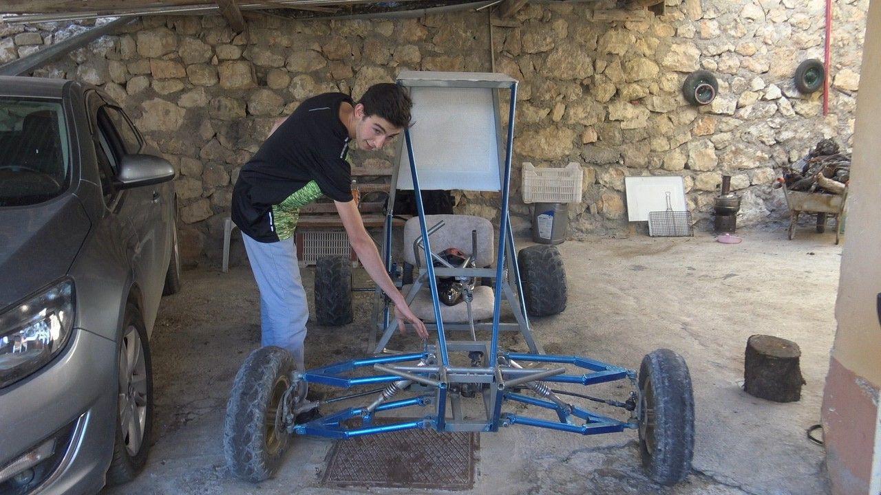 Pandemi sürecinde evde sıkılan liseli genç, su motorundan 'buggy' araba yaptı - Sayfa 2