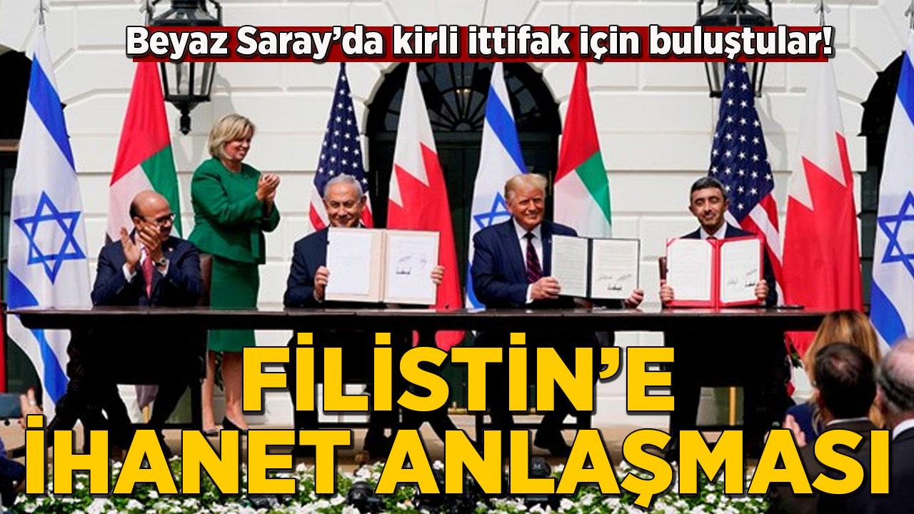 Beyaz Saray'da Filistin'i yok sayan anlaşma