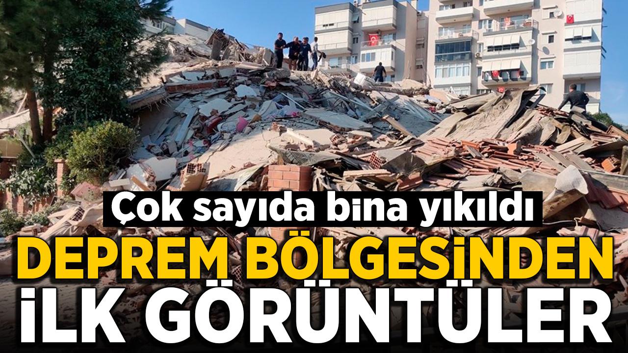 İzmir'de deprem sonrası ilk görüntüler