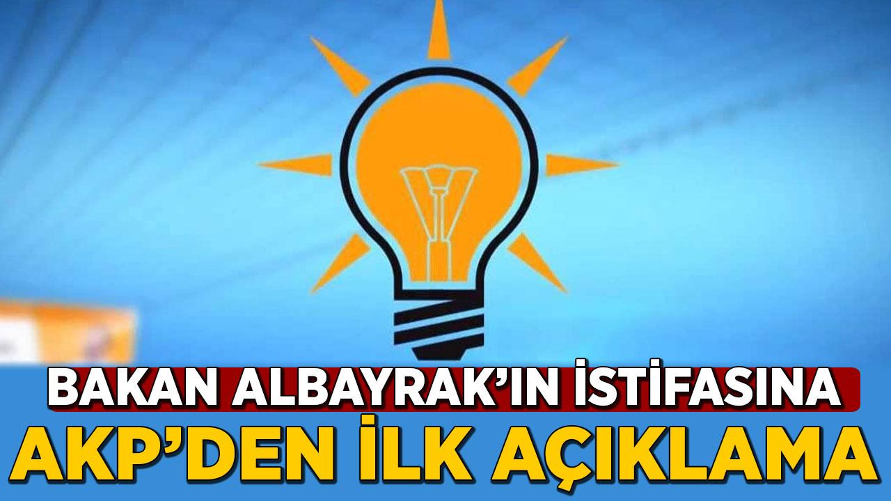 Bakan Albayrak'ın istifa ettiği iddiasına AKP'den ilk açıklama