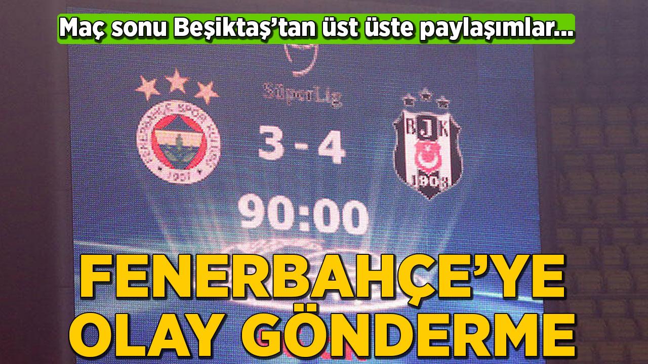 Beşiktaş'tan Fenerbahçe'ye maç sonu olay gönderme!
