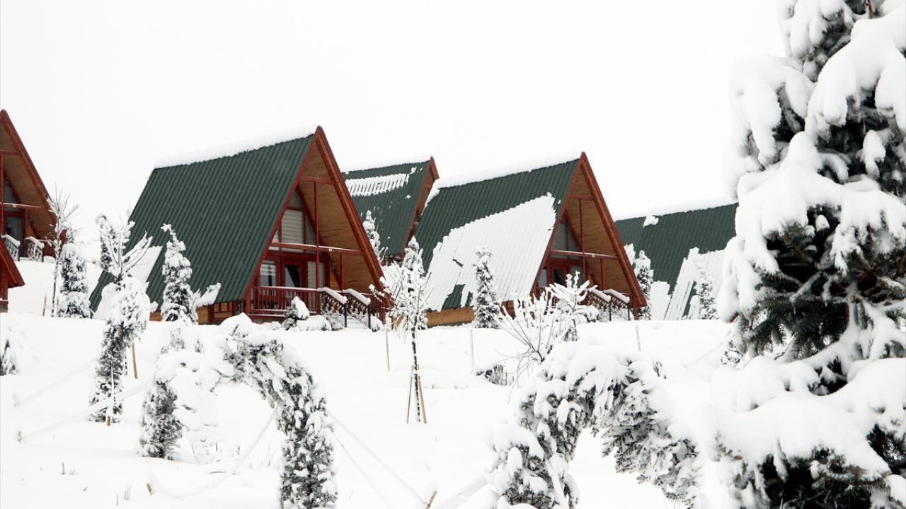 Yıldız Dağı Kayak Merkezi'nde kar kalınlığı 25 santimetreye ulaştı - Sayfa 3