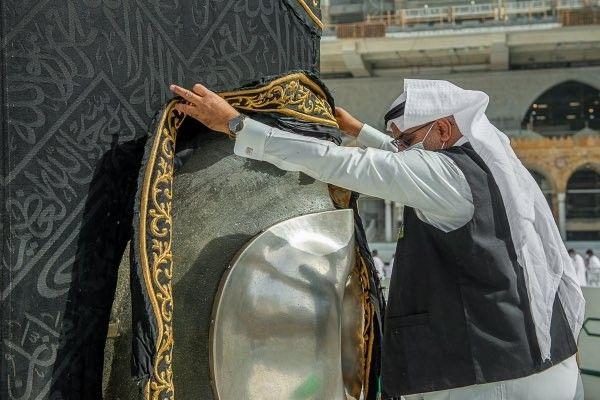 Kabe örtüsünün mevsimlik bakım çalışmaları Ramazan ayı öncesinde başladı - Sayfa 1