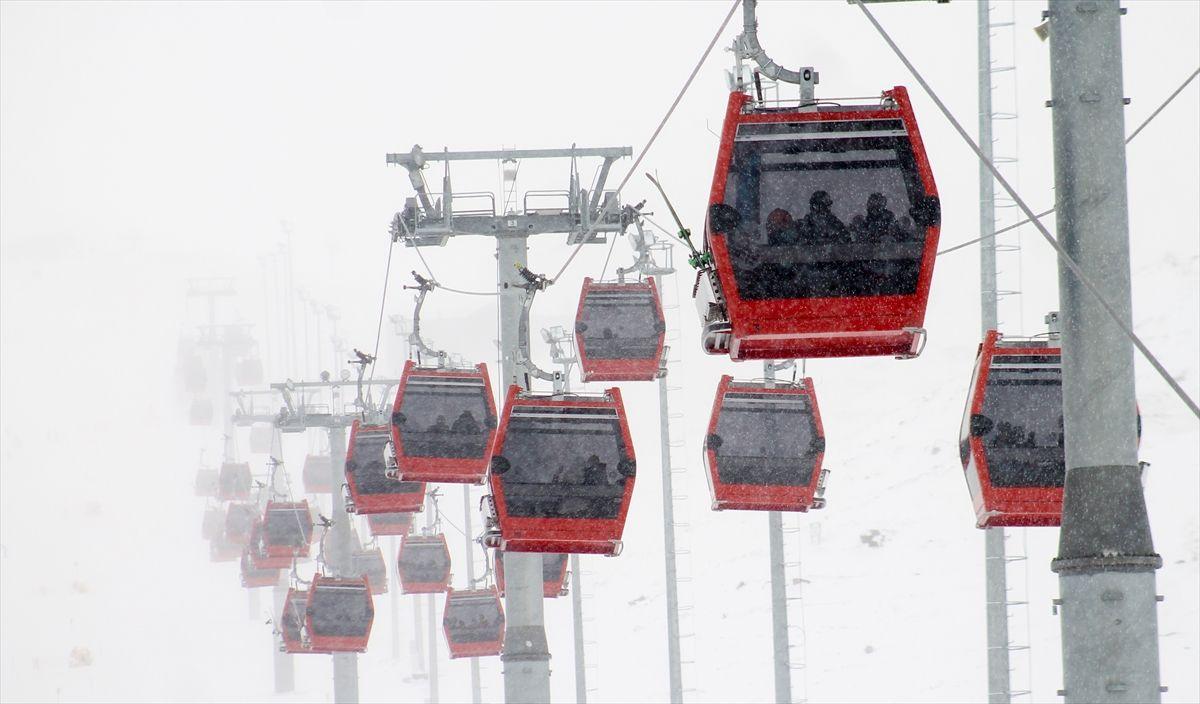 Erciyes'te yoğunluk: Nisan ayında kayak keyfi - Sayfa 1