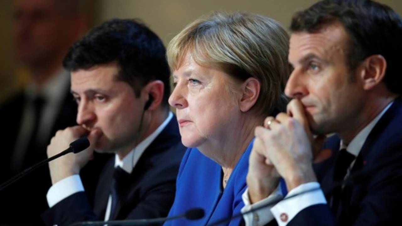 Macron, Merkel ve Zelenskiy yarın Rusya'yı görüşecek