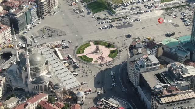 1 Mayıs Emek ve Dayanışma Günü! Taksim Meydanı drone ile görüntülendi. - Sayfa 4