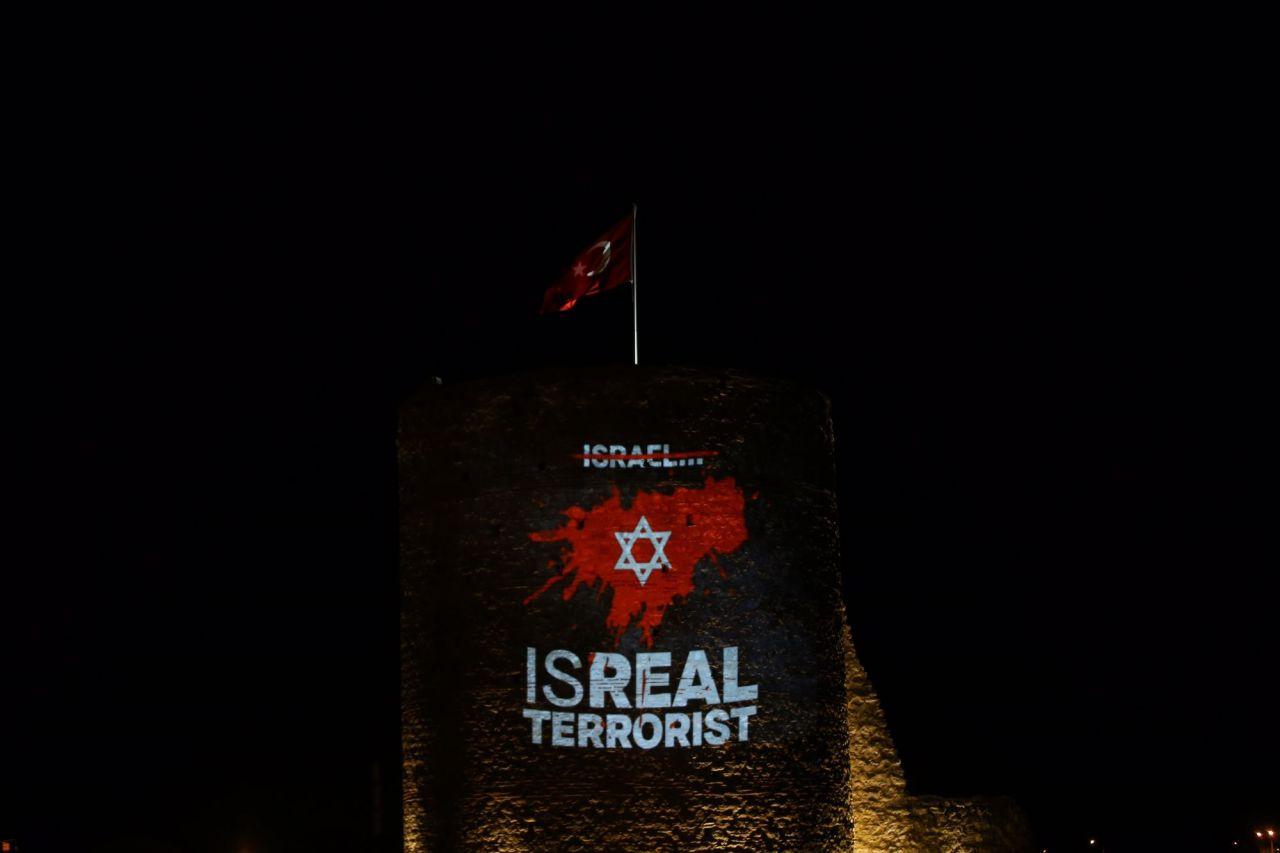 Kırklareli'nde Pınarhisar Kalesi Filistin'e destek için ışıklandırıldı - Sayfa 3
