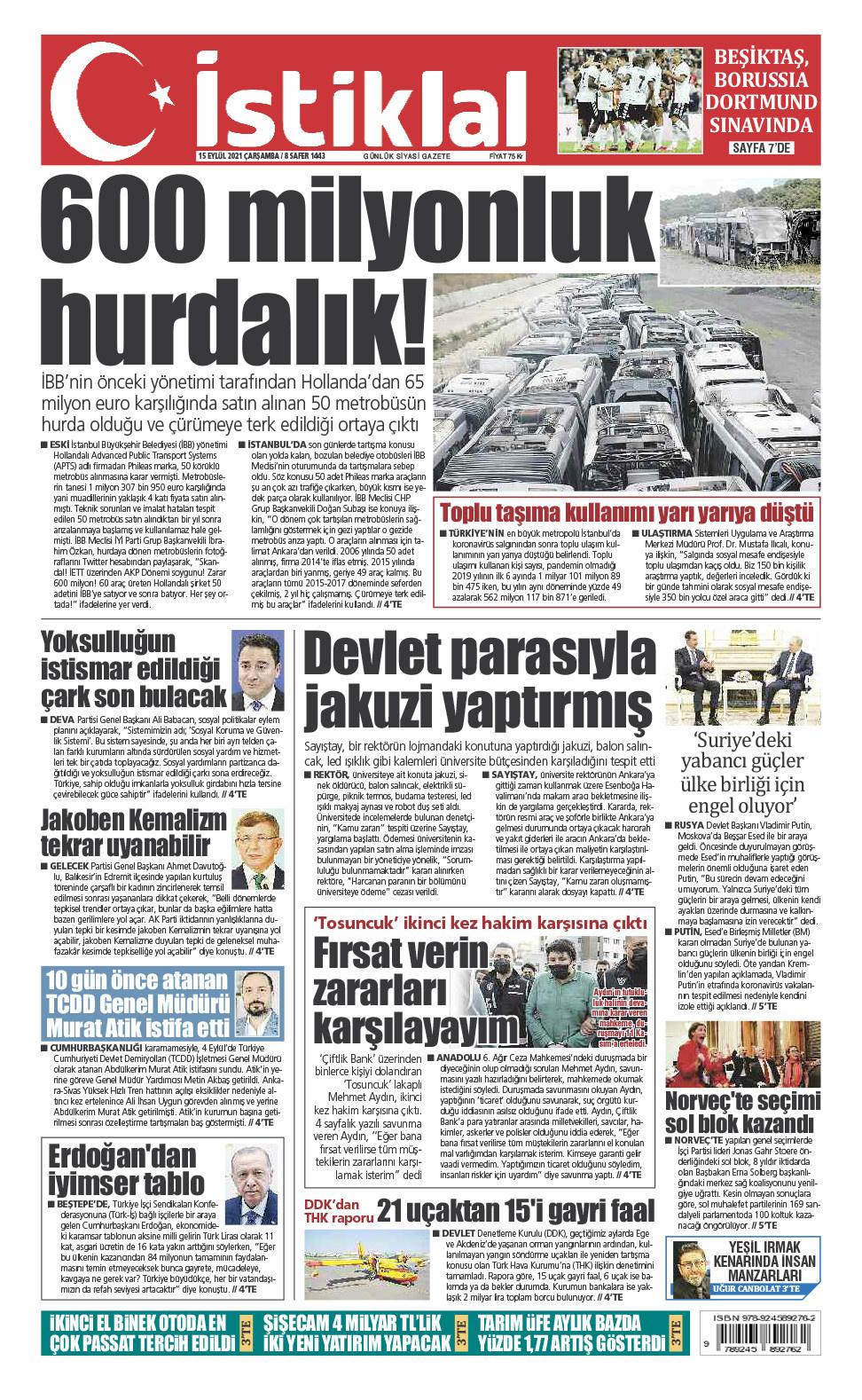 İstiklal Gazetesi 1'nci Sayfa