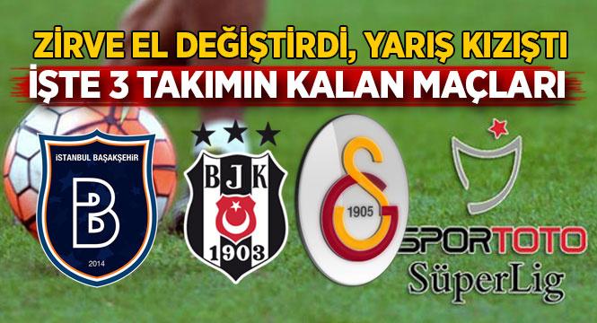 Kıyasıya yarış! İşte G.Saray, Başakşehir ve Beşiktaş'ın kalan maçları