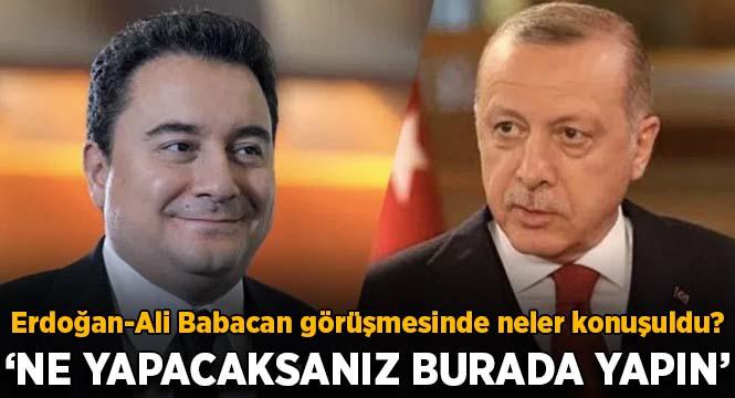 Erdoğan-Ali Babacan görüşmesinde neler konuşuldu?