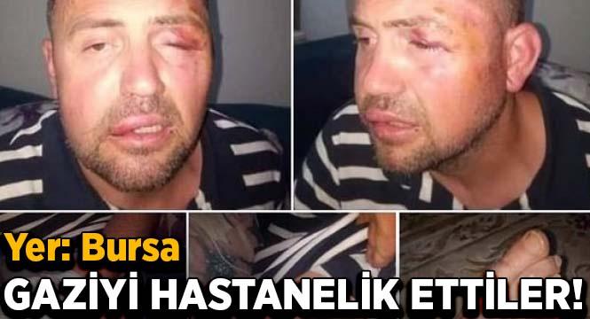 Bursa'da gaziyi hastanelik ettiler
