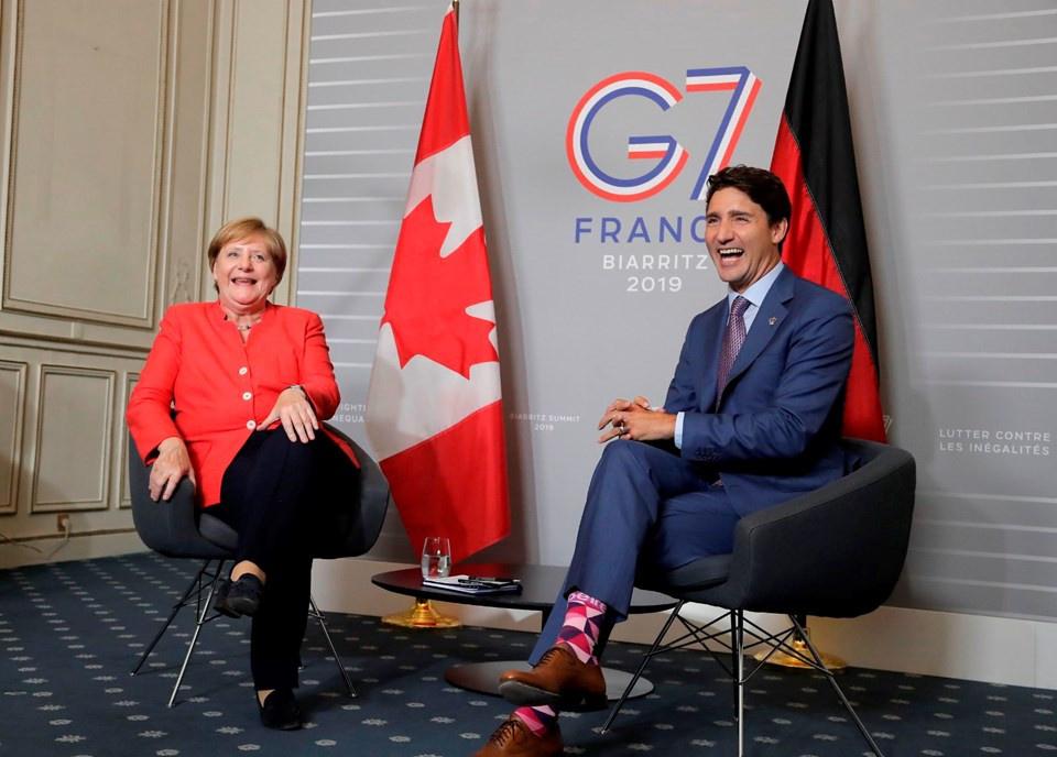 G7 liderleri aile fotoğrafı çektirdi (Zirve'den ilginç kareler) - Sayfa 1