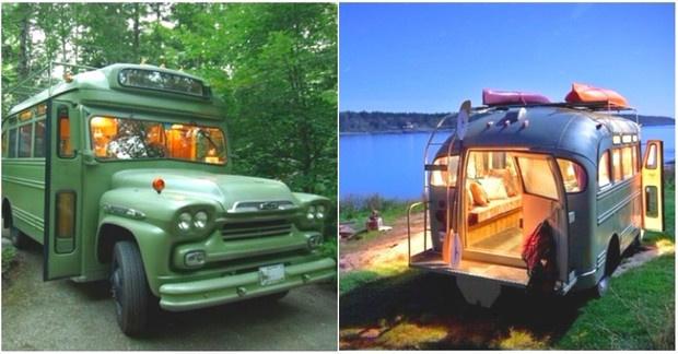 Eski model bir otobüsün müthiş bir kamp aracına dönüşümü - Sayfa 1