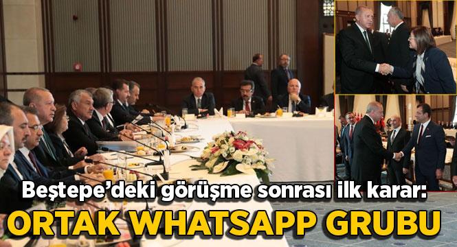 Beştepe'deki görüşme sonrası ilk karar: Ortak Whatsapp grubu