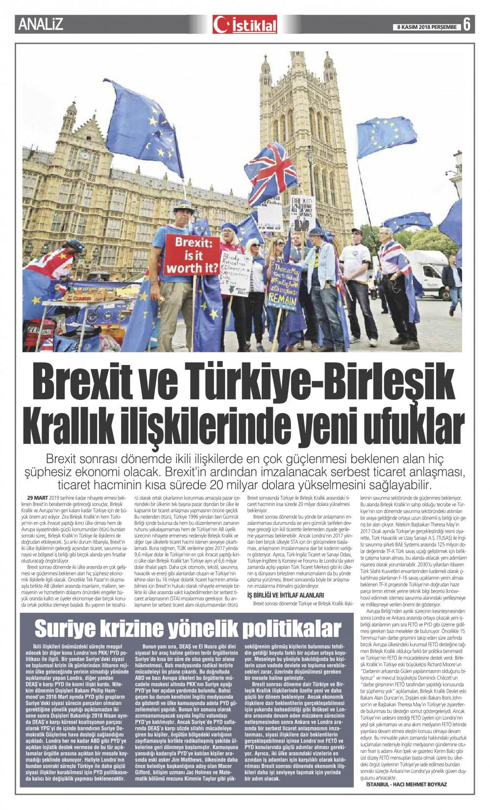 İstiklal Gazetesi 6'nci Sayfa