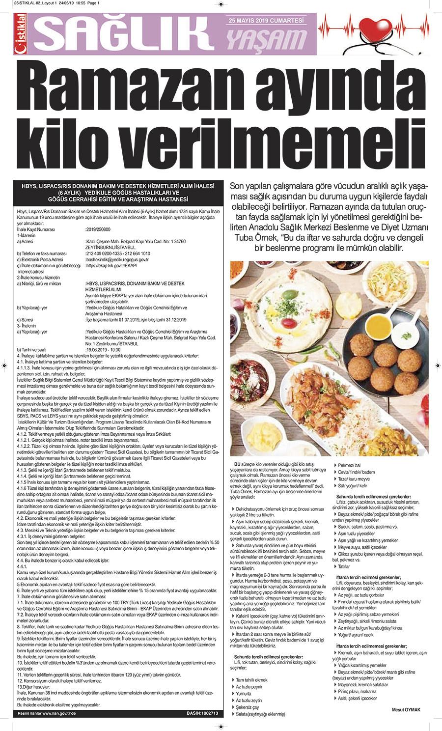 İstiklal Gazetesi 2'nci Sayfa